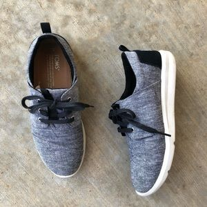 Toms Del Ray Casual Lace up Sneaker Gray Black 7